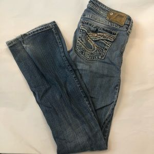 Silver Low Rise Pioneer Bootcut Jeans